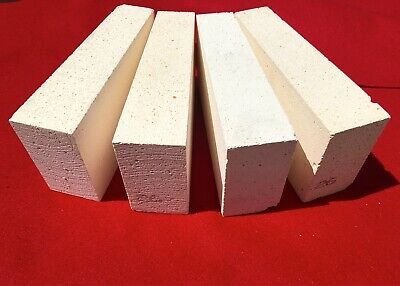 "K-26 Wedge Insulating Fire Brick 2600F Thermal Ceramics 9 x 4.5 x 2.0"" to 2-½"""