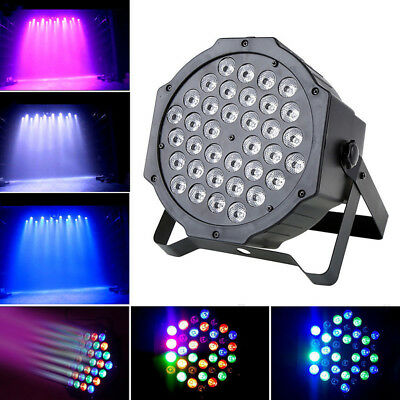 36 LED RGB Stage 72W Light Flat Par Lamp DMX512 Club DJ Party Disco Lighting NT