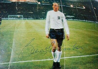 BOBBY CHARLTON 60's SIGNED World Cup 1966 Football Magazine Cutting Autograph