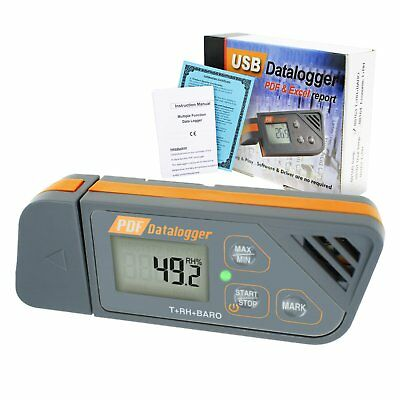Digital USB Datalogger Humidity Temperature Barometric Pressure LED Data Logger