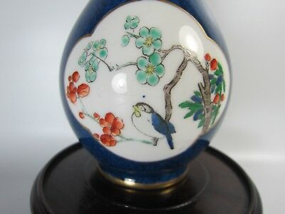 Nice! Rare! Chinese Old Falangcai Blue Vase Decorated Bird in Window