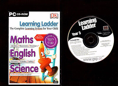 Learning Ladder School Maths, English & Science. Educational Software For Pc!!