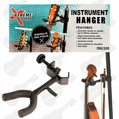 Ukulele Violin Mandolin Stand Hanger With Accessory Hook  - Brand New