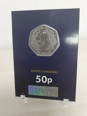 Sherlock Holmes 2019 UK 50p Fifty Pence Coin Brilliant Uncirculated BU NEW COIN