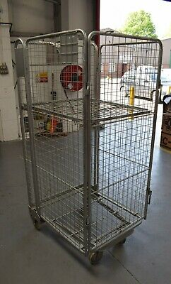 Stacking Rolling Cage Trolley for Warehouse and Transport Used