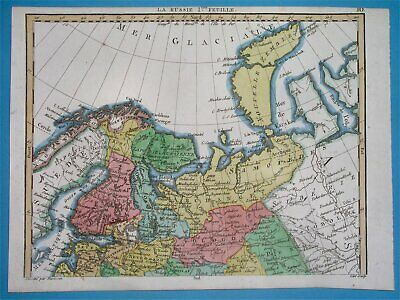1811 Rare Nice Original Map Russia Latvia Finland Estonia Livonia Petersburg