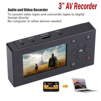 VHS Camcorder Hi8 Tape Converter Audio Video Capture 8G MP3 Player AV Recorder