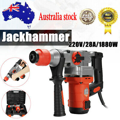 4 in 1 Electric 1880W Jackhammer Drill Concrete Demolition Rotary Hammer Tool AU