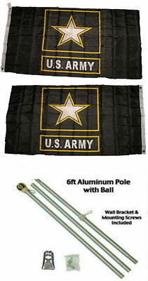 3x5 5 Point Weed USA Marijuana 2ply Flag Aluminum Pole Kit Gold Ball Top 3/'x5/'