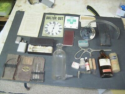 Vintage  Doctors  Leather Medial Bag And Extensive Contents. (1925-38)