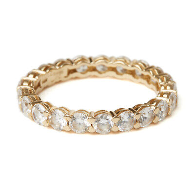 14Ct Gold Cubic Zirconia Eternity Ring