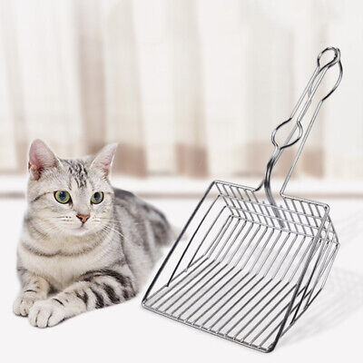 Cat Litter Scoop Metal Waste Scooper Poop Pet Sand Shovel Cleaning Tools 20 V6T6