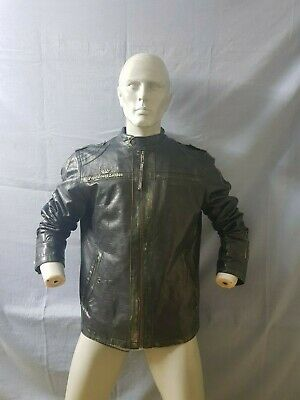 super popular 9553c 1e187 PEPE JEANS MOTORCYCLE flight leather jacket giacca giubbino pelle Tg. XL  u784