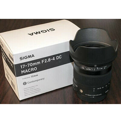 Sigma 17-70mm F2.8-4 DC MACRO OS HSM Lens for Canon EF Stock from EU Nuevo