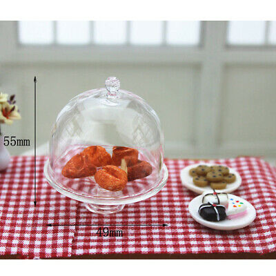 1/12 Scale Dollhouse Miniature Clear Dessert Food Tray Kitchen Decoration