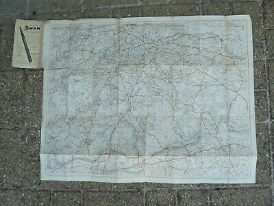 Bacons Map of the Environs of Croydon Map - on cloth - Surrey