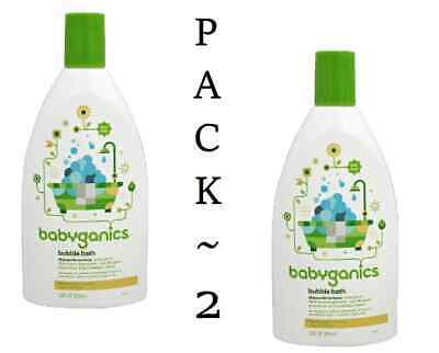 Babyganics Baby Bubble Bath ~CHAMOMILE VERBENA~ 20oz Bottle  (Pack 2)