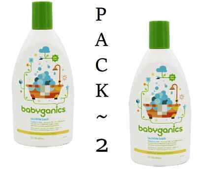 Babyganics Baby Bubble Bath ~Fragrance Free~ 20oz Bottle  (Pack of 2)