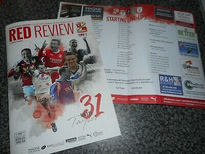 SWINDON TOWN  v  NOTTS COUNTY (LAST EVER LEAGUE GAME)  2018/19 ~ MAY 4 + T/SHEET