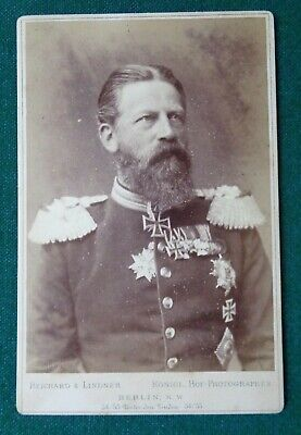 Antique Victorian Cabinet Photo Emperor Frederick Hohenzollern Germany Prussia