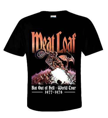 Meat Loaf Official T-Shirt Bat Out Of Hell - Bombast Rock - Seventies Hard Rock