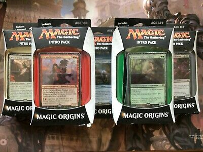 Magic the Gathering MTG Magic Origins Intro Pack FULL SET 5 Packs ALL COLOURS