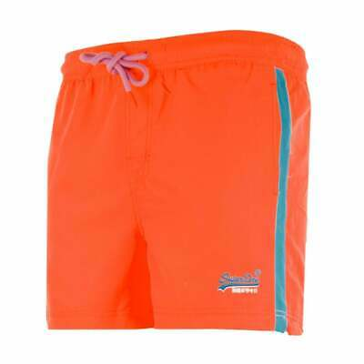 Superdry Mens Beach Volley Swim Shorts (Orange)