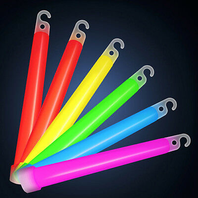 "JT_ 5 Pcs 6"" Glow Sticks with Hook Christmas Party Camping Emergency Light New"