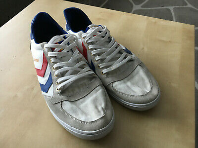 check out c203a 9ea27 HUMMEL SCHUHE SLIMMER STADIL LOW white Weiß Canvas, Skaterboy used