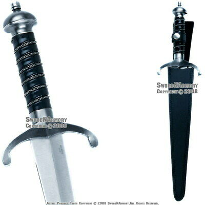 "17"" Medieval Knight Short Sword Vendetta Dagger Sheath"