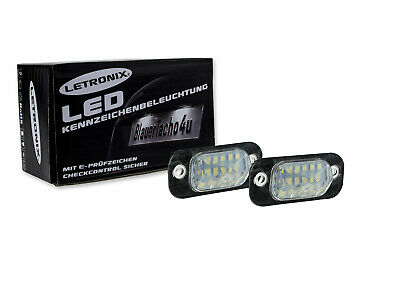 LETRONIX SMD LED Kennzeichenbeleuchtung Module VW Polo Classic 1995-1999