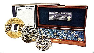 Ancient Silk Road Civilizations 20 Bronze Coin Collection In Presentation Box