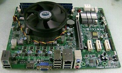 ECS H61H2-WM BOARD w/Pentium DC Socket 1155 CPU+ 2gb DDR3 RAM +I/O,Tested