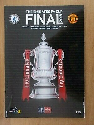 CHELSEA v MANCHESTER UNITED FA CUP FINAL FOOTBALL PROGRAMME 2018 FREE POST