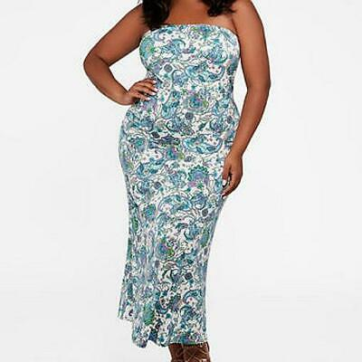 3aa252c1f5 ASHLEY STEWART PLUS Size Green Strapless Tube Dress Size 18 20 NWT ...