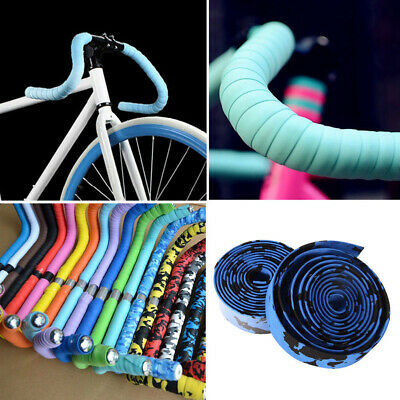 2Pcs Cycling Road Bike Sports Bicycle Handlebar Tape Wrap with 2 Bar Plug Seraph