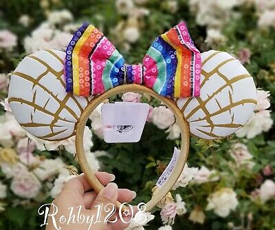 Disney Parks Mexican Concha Sweet Bread Pan Dulce Minnie Mouse Ears Headband