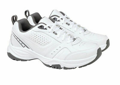 Kirkland Signature Mens Classic White Leather Athletic Shoes Sneakers - VARIETY