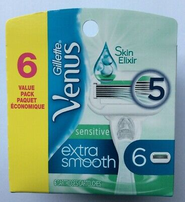 One Gillette Venus Sensitive Extra Smooth 6 pk refill - FS!