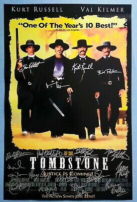 TOMBSTONE MOVIE Poster Signed by 17 castmembers, Excellent condition replica