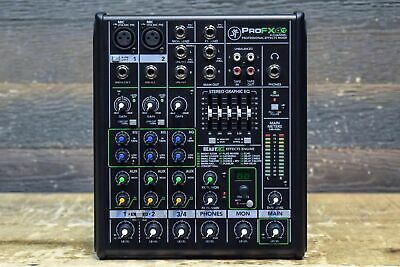Mackie ProFX4v2 ProFXv2 Series 4-Channel 2-Mic Preamp Professional Effects Mixer
