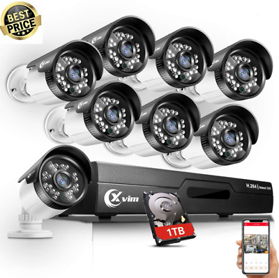 XVIM 8CH 1080N Outdoor Night Vision Home Security Camera