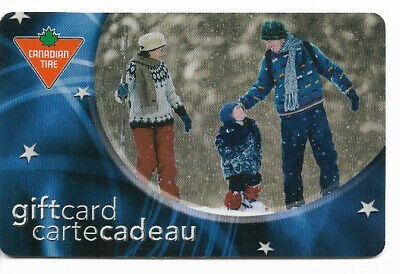 Canadian Tire Gift Card Var-Fs-01 Family In The Snow
