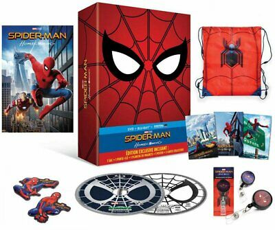 Spider-Man Homecoming coffret collector Blu-Ray + Dvd + Sac + Porte-clé + Poster