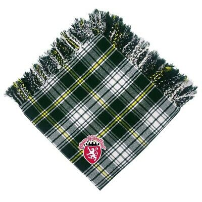 "Scottish Kilt Fly Plaid ST Patrick Tartan Acrylic Wool Purled Fringe 48"" X 48"""
