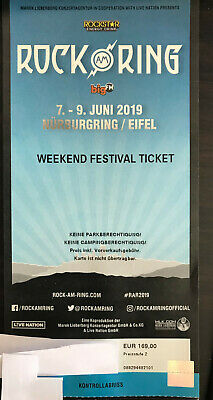 Rock am Ring 2019 Weekend Festival Ticket + Camping / Parking Ticket
