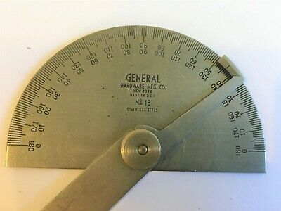 General Hardware Mfg No. 18 Protractor