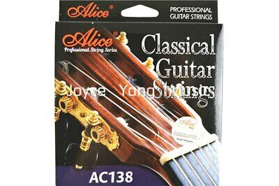 Alice AC138-H Classical Guitar Strings Crystal Nylon Silver-Plated 85/15 Bronze