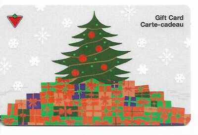 Canadian Tire Gift Card Var-Ct-01 Gift With Christmas Tree