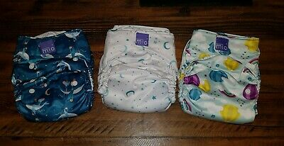 3 Bambino Mio Solo Miosolo Birth To Potty All In One Cloth Reusable Nappies Used